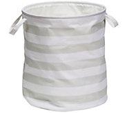 Honey-Can-Do Gray Stripe Kids Hamper - H309998