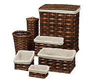 Honey-Can-Do 7-Piece Wicker Hamper Kit - H367398