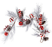 Frosted 4 Peppermint Candies and Ornament Garland - H209599
