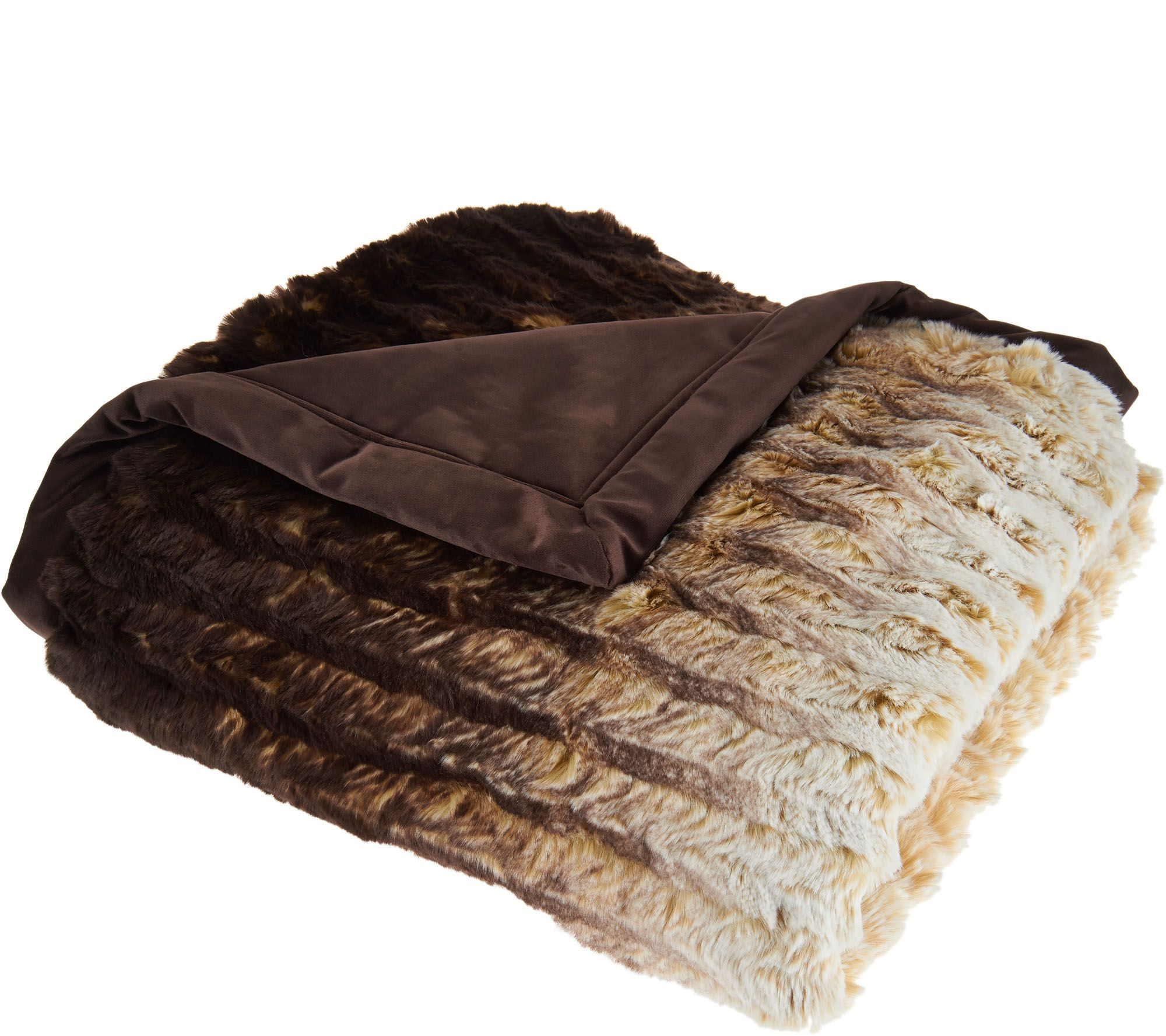 Throws Fleece Plush Faux Fur & More Throws — QVC
