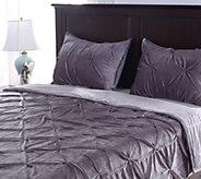 Berkshire Blanket Queen Velvet Pintuck Coverlet with Shams - H213099