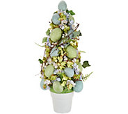 Sugared Egg and Floral Topiary w/ Potted Base by Valerie - H213799