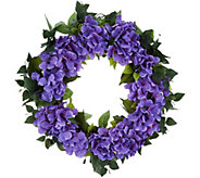 Bethlehem Lights Prelit Indoor/Outdoor 24 Hydrangea Wreath - H214599