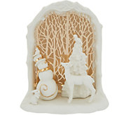 Lenox Porcelain 7 Illuminated Holiday Scene with 24K Gold Accents - H216099