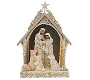 Jim Shore Heartwood Creek Woodland Nativity in Lighted Stable - H216299