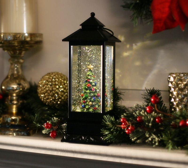 Christmas Lanterns.Illuminated Holiday Water Lantern With Timer By Lori Greiner Qvc Com