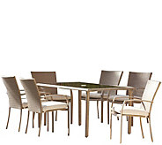 Cosco Lakewood Ranch 7-Piece Steel Fully WovenDining Set - H289099
