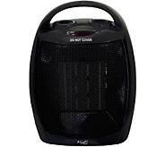 Vie Air 1500W Portable 2-Settings Black CeramicHeater - H294199