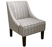 Skyline Furniture Menton Linen Swoop Arm Chair - H300899