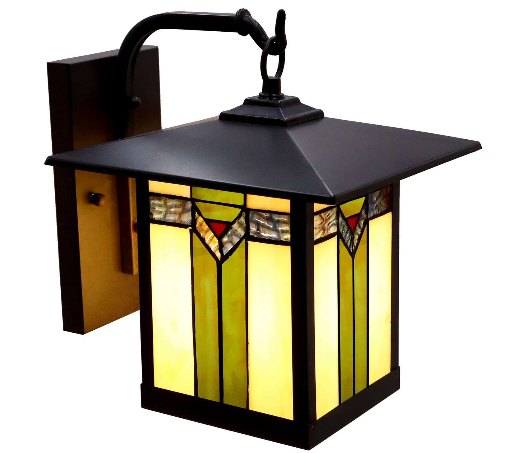 Prairie Stained Gl Outdoor Light