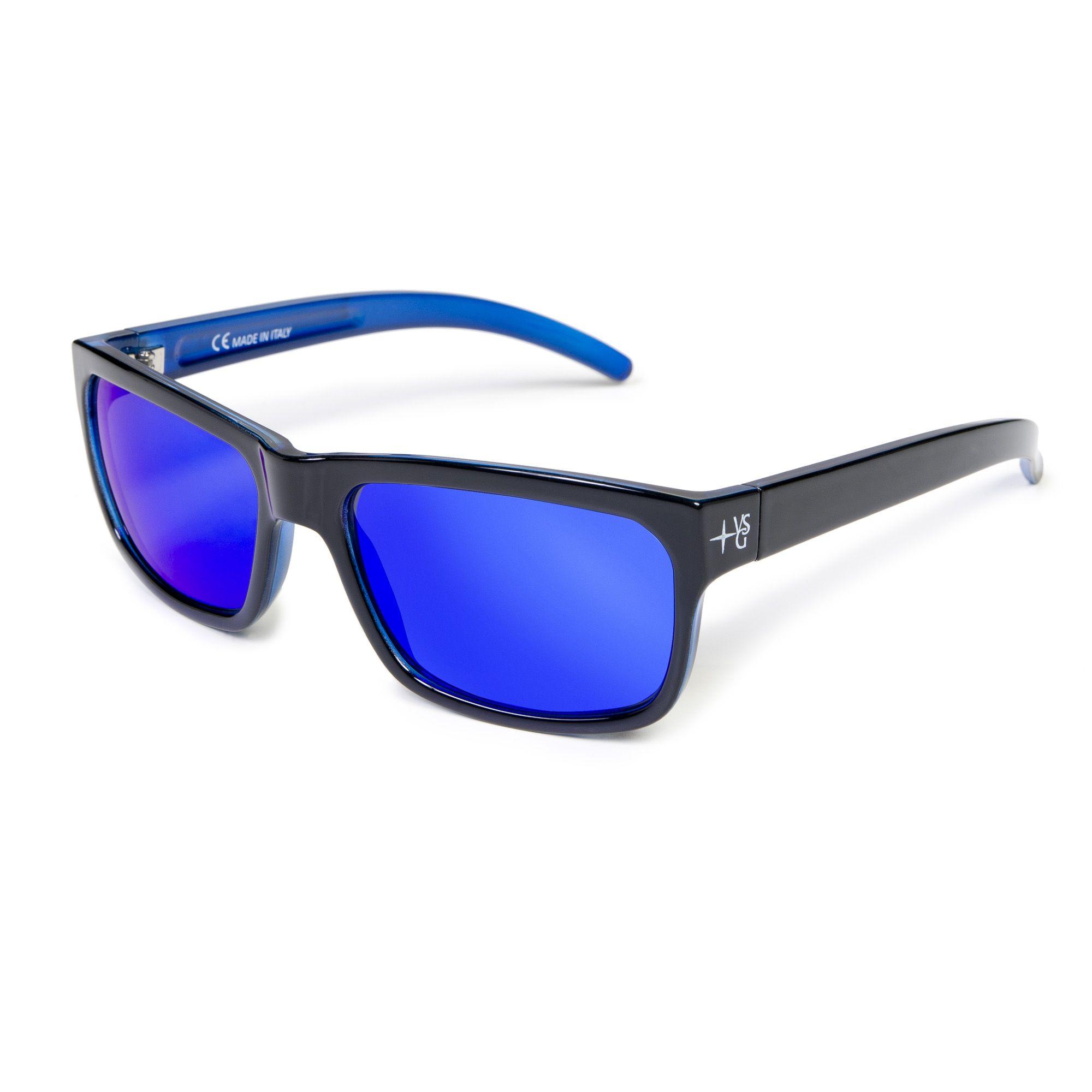 Veleria san giorgio occhiali da sole con lenti a specchio e astine colorate qvc italia - Occhiali con lenti a specchio colorate ...