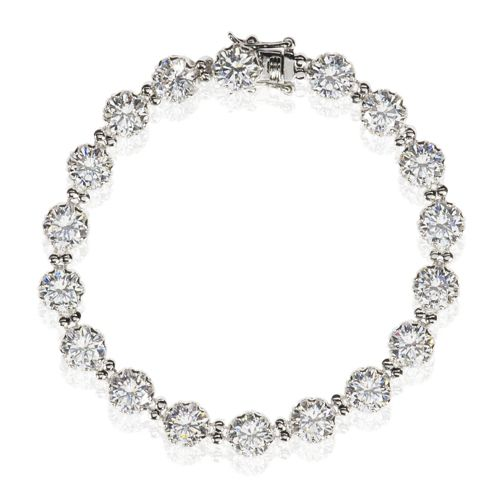 Diamonique Bracciale tennis pari a 18.9ct in argento 925