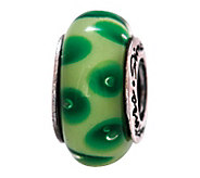 Prerogatives Sterling Green Dotted Glass Bead - J108800