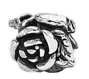 Prerogatives Sterling Rose Floral Bead - J109300