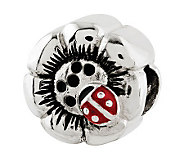 Prerogatives Sterling Lady Bug Flower Bead - J313000