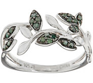 Pave Colored Diamond Vine Ring, Sterling, 1/5 cttw, by Affinity - J348800