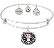 Alex and Ani Fortunes Favor Charm Bangle - J351900