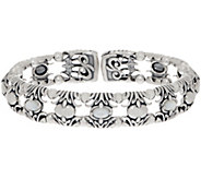 Carolyn Pollack Natural Beauty Sterling Silver Gemstone Cuff - J355300