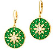 Heritage Jewelry Flower Enamel Drop Earrings - J357400