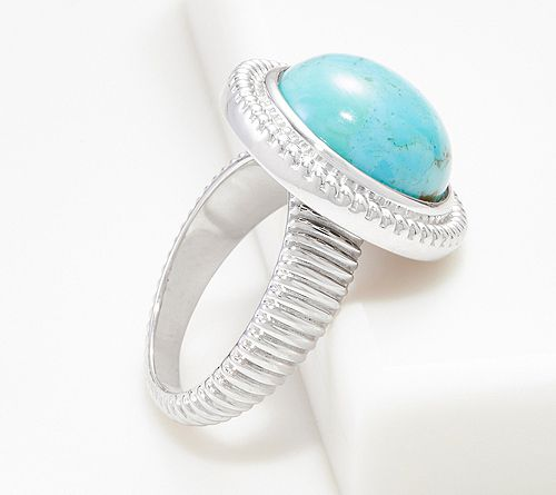 Colors of Kingman Turquoise Ring, Sterling Silver