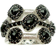 Judith Ripka Sterling Onyx & Black Spinel Ring - J377600