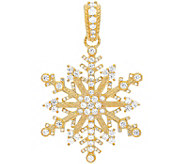 Judith Ripka Sterling & 14K Clad Diamonique Snowflake Enhance - J380000