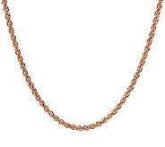 EternaGold 24 Tuscan Rope Necklace 14K Rose Gold - J392000