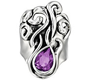 Hagit Sterling Gemstone Swirl Ring - J392900