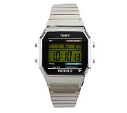 Timex Mens Digital Watch with Silvertone Expansion Band - J102901