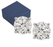 Diamonique 100-Facet 3.00 cttw Stud Earrings, Platinum Clad - J268101