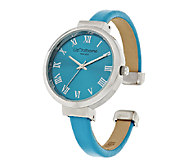 Liz Claiborne New York Colored Bangle Watch with Tonal Dial - J290701