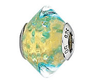 Prerogatives Sterling Gold/Green Italian MuranoGlass Bead - J300301