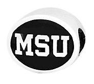 Sterling Silver Michigan State University Bead - J300701