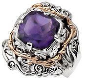 Hagit Gorali 3.15 ct Amethyst Ring, Sterling/14K Gold - J305501
