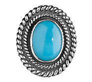 American West Treasures Sterling TurquoiseMagnetic Insert - J338101