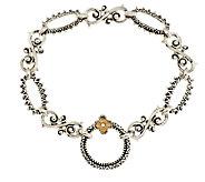 Barbara Bixby Sterling & 18K Textured Link Bracelet 7-1/4 - J339501