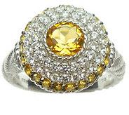 Judith Ripka Sterling Diamonique & Birthstone Ring - J341601