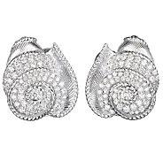 Judith Ripka Sterling with Sapphire & DMQ Button Earrings - J343001