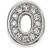 Silver Notes Sterling Crystal Letter / Symbol Charm - J343101