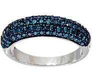 Pave Colored Diamond Domed Band Ring Sterl., 1.00 ct by Affinity - J348801