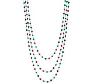 Italian Silver 72 Gemstone Bead Necklace - J356301