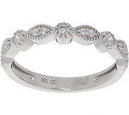 Diamonique Round & Marquise Band Ring, Sterling or 14K Clad - J357001