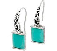 Michael Dawkins Sterling Silver Starry Night Gemstone Drop Earrings - J359101