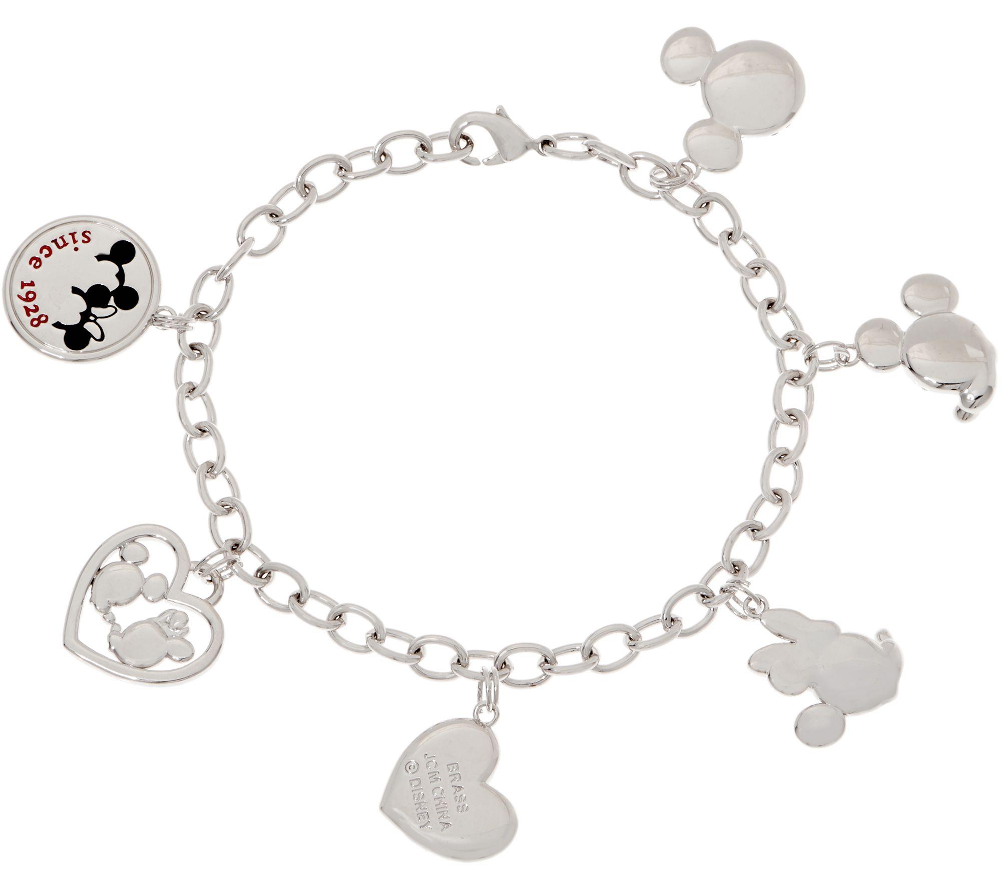 537bef1e357 Mickey's 90th Birthday Mickey & Minnie Charm Bracelet - Page 1 — QVC.com
