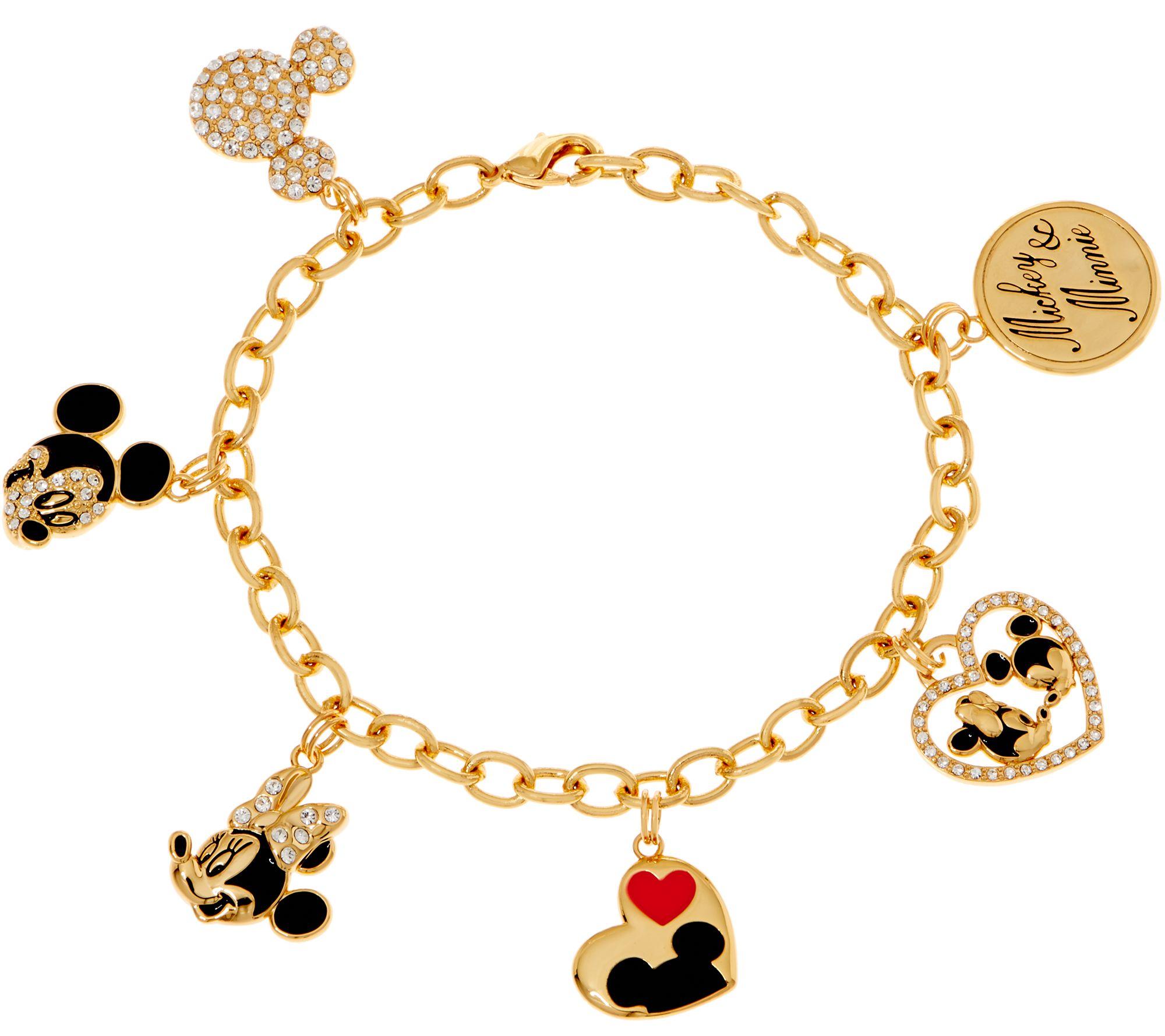 d88b31b11bd16 Mickey's 90th Birthday Mickey & Minnie Charm Bracelet — QVC.com
