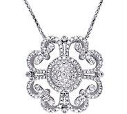 Vintage-Style Diamond Pendant, 14K, 1-1/4 cttw,by Affinity - J376501