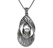 Or Paz Sterling Silver Textured Double Loop Pendant w/ Chain - J384201