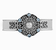 Artisan Crafted Sterling Silver Medallion CuffBracelet - J385401