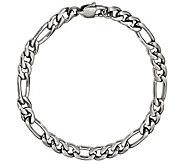 Steel by Design Mens 9 Figaro Bracelet - J385501