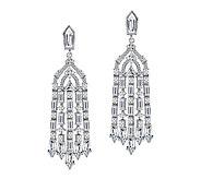 Judith Ripka Sterling 2.55 cttw Diamonique Chandelier Earring - J387601